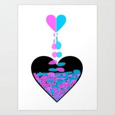 Love Is Like A Sandglass Art Print