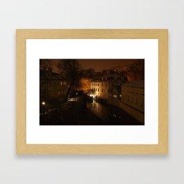 Watermill through the night Framed Art Print