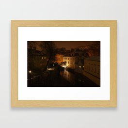 Watermill through the night Framed Art Print