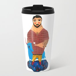 Paul Bunyan and Babe Travel Mug
