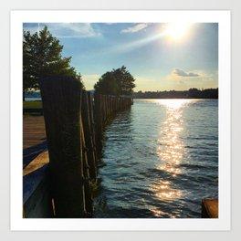 Shimmering Long Dock Park - Beacon NY Art Print