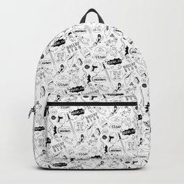 Merlin pattern Backpack