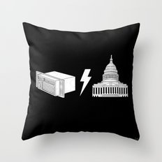Literal AC/DC Throw Pillow