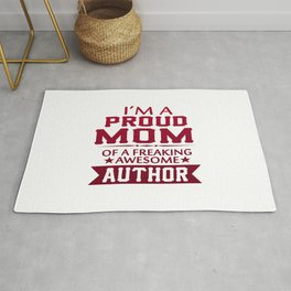 I'M A PROUD AUTHOR'S MOM Rug