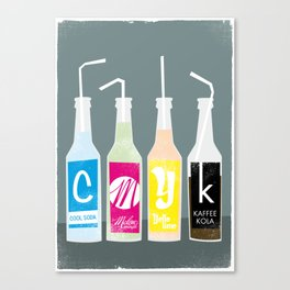 CMYK BOTTLES Canvas Print