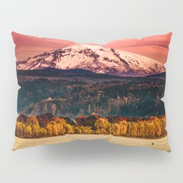 Sunset Snowy Mountain - Mt. Hood Pillow Sham