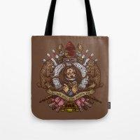 murray Tote Bags featuring Murray crest by Rodrigo Ferreira