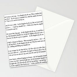 Annabel Lee Edgar Allan Poe Classic Poem Stationery Cards