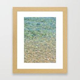Clear sea II Framed Art Print