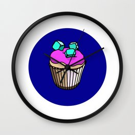Muffin with marshmallows Wall Clock