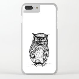 Inked Owl Clear iPhone Case