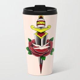 Rose and Dagger Metal Travel Mug