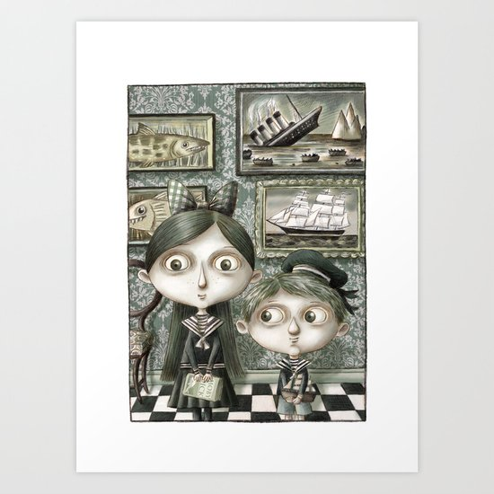 Miss Tomasine and Master Ted Art Print