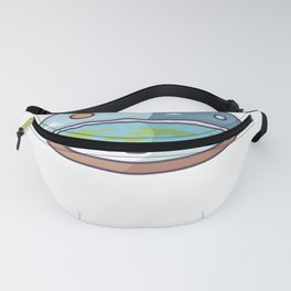 Flat Earth In Flat Brains - Funny Conspiracy Fanny Pack