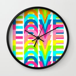 Love In Colours Wall Clock