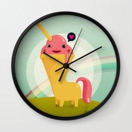 the real unicorn ice-cream Wall Clock