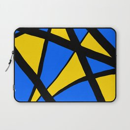 Yellow and Blue Triangles Abstract Laptop Sleeve