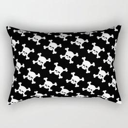 Skull Crossbones Symbol Rectangular Pillow