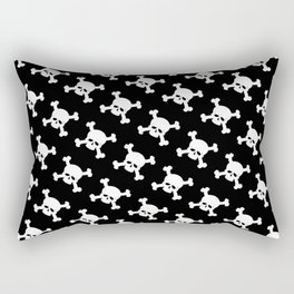 Skull Crossbones Symbol Rectangular Pillow