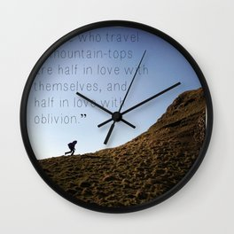 color image of Ireland with quote Wall Clock