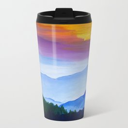 Smokey Mountain Sunset Metal Travel Mug