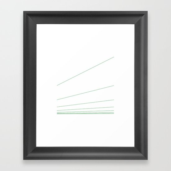 #301 Elevation – Geometry Daily Framed Art Print
