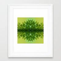 leaf Framed Art Prints featuring Leaf by Cs025