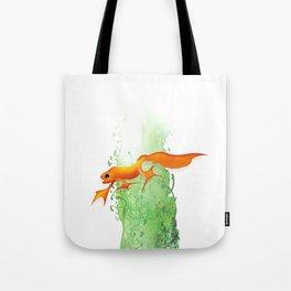Orange Newt Tote Bag
