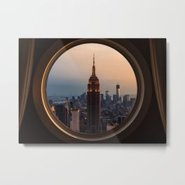 New York Window View (Empire State Building) Metal Print