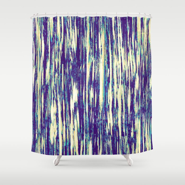 Ikat Streaks In Tropical Shower Curtain
