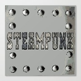 Steampunk Metal Plate Canvas Print