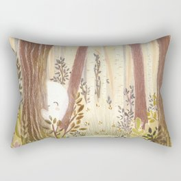 Little ghost in the woods Rectangular Pillow