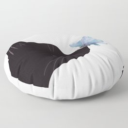 Cat and Butterfly Floor Pillow