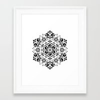 snowflake Framed Art Prints featuring Snowflake by BWartwork