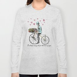 Spring time bicycle romance Long Sleeve T-shirt