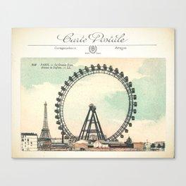 Paris Postcard #1 by Murray Bolesta Canvas Print