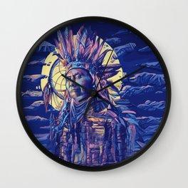 native american portrait 2 Wall Clock