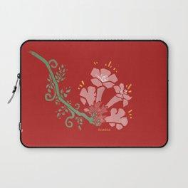 Trumpet Flower Illustration Laptop Sleeve