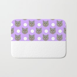 Kai - British shorthair cat gifts for cat lovers and cat lady gifts.  Cat people gifts Bath Mat