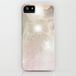 Galactic being holding stars and suns iPhone Case