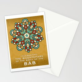 Bicentenary of The Báb - Water and Fire Stationery Cards