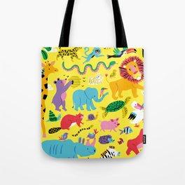 Animal Parade Tote Bag
