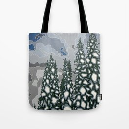 A Blue and Grey Day in Winter Tote Bag