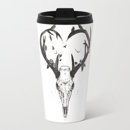 Neverending love (bw) Travel Mug