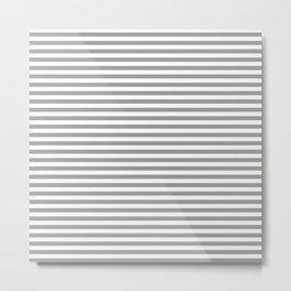 Nautical - Beach Cottage - White and Gray Stripe Metal Print