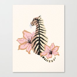 Le White Tigress Canvas Print