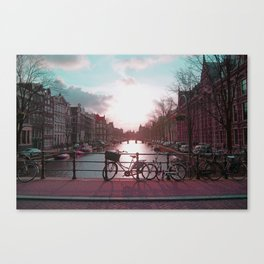 Biking in Amsterdam Canvas Print
