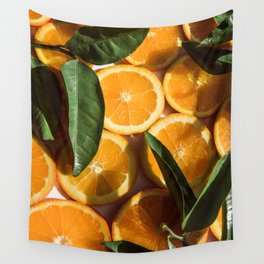 Orange Fruit Pattern Photography Wall Tapestry