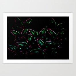 Butterflies green Art Print