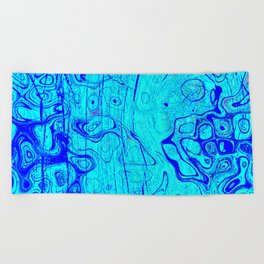 Abstract Oil on Water Beach Towel